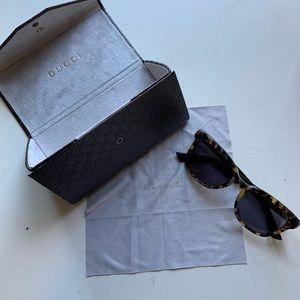 Gucci Sunglasses (Havana Frame. Style: GG 3586/S)